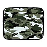 ZMvise Camouflage Protective Slim Padded Laptop Soft Neoprene Sleeve Bag Case Cover for Notebook iPad Tablet Computer