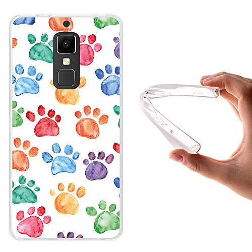 WoowCase Elephone S3 Hülle, Handyhülle Silikon für [ Elephone S3 ] Hund Fußabdruck Handytasche Handy Cover Case Schutzhülle Flexible TPU - Transparent