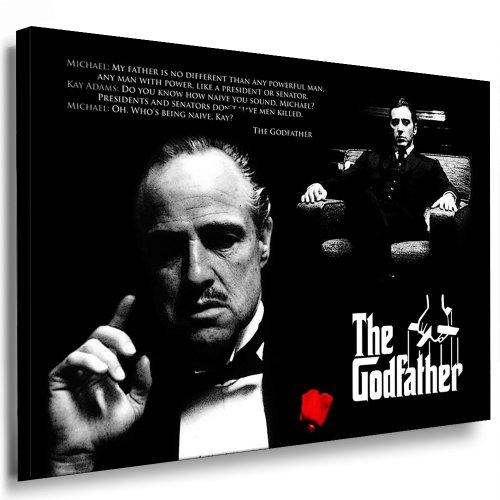 Pop-art-foto (The Godfather - Al Pacino Leinwand Bild 100x70cm k. Poster ! Bild fertig auf Keilrahmen ! Pop Art Gemälde Kunstdrucke, Wandbilder, Bilder zur Dekoration - Deko. Film / Movie / Tv Stars Kunstdrucke)
