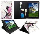 Sweet Tech Huawei MediaPad M5 10/M5 10 Pro Tablet 10.8 Zoll Blumen Schmetterling Mädchen Universal Wallet Schutzhülle Folio (10-11 Zoll