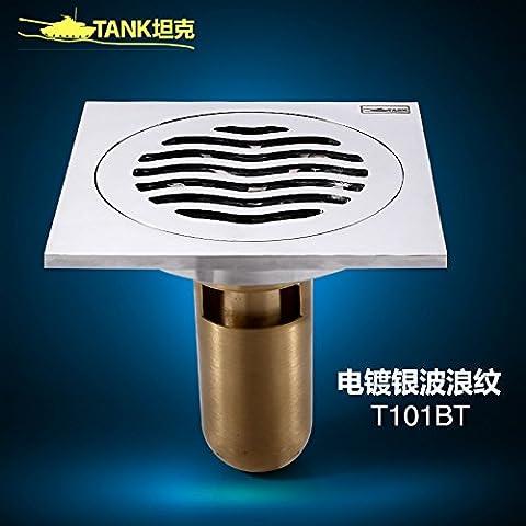 mdrw-bathroom Zubehör Deodorant unsichtbar Bodenablauf Full Copper Ablauf Core Dach Deep Water Seal WC WC Deckel Pest Control Kanalisation Haarverdichtung F
