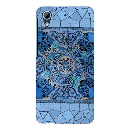 "Disagu Design Case Schutzhülle für HTC Desire 626G Dual Sim Hülle Cover - Motiv\""Blaues Mosaik\"""