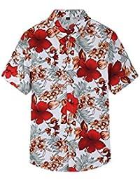 Yacun Hombres Camisas Hawaianas Manga Corta Casual Tops