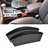 Sedeta® Sedile per auto Custodia per immagazzinaggio Scatola Fessura Pocket Catcher Gap Organizer interno Portabicchiere Caddy Nero Durable Leak Proof leather