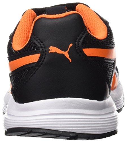 Puma Axis V4 Mesh Jr, Sneakers Basses mixte enfant Noir (Puma Black-orange Clown Fish 07)