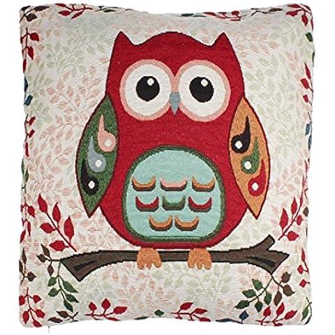 Copricuscini e federe, Kingko® Home Decor Ufficio Car Bed Cuscino Copricuscino gufo o un'immagine 45x45cm decorativi d'epoca