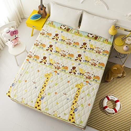 BBQBQ Mikrofaser-Spannbettlaken, Super-King-Size-Betten, Schutz-Matratzenbezug, Einzelbett, Giraffe, 120 x 200 cm (King-size-bett Kiefer)