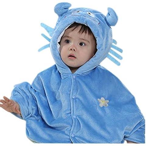 bebé Cloak Mantón Baby Blankets doce constelaciones bebé Cloak homeboy azul