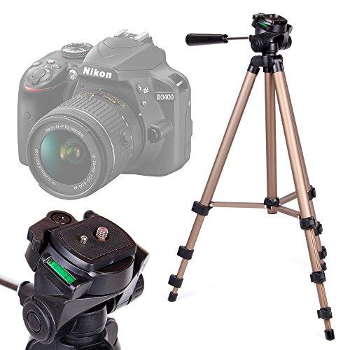 DURAGADGET Trípode con Nivel De Burbuja para Cámara Nikon D3400 - Profesional
