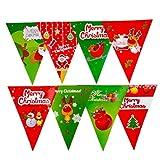Cosanter Tire de la Bandera Triangular de Diseño de Letras de Nieve para la Decoración de Navidad