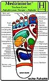 Fussreflexzonen Therapie - Fusssohle- Medizinische Taschen-Karte -