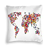 VwuuzLpOD Velvet Pillow Case,Bunch of Flower Petals Essence Fragrance Garden Growth Theme Atlas Image,Throw Pillow Covers Decorative Pillows for Couch Living Room Bedroom Car,18 X 18 Inches