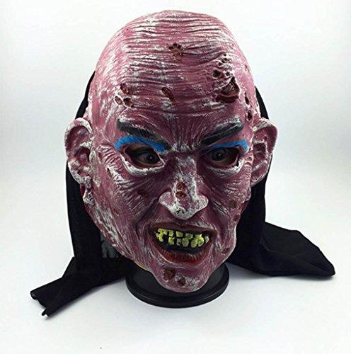 DZW Übelkeit Schlechtes Gesicht Zombie Terror verrotten Zombie Maske Halloween Abschlussball Spukhaus Requisiten Zombie Kopfbedeckung High qualityModellierung (Dame Kostüme Schlechte Die Weiße)