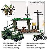 Rilevamento di Camion Militare Veicolo Avamposto & 7 Leganti a saldare per la guerra 285pcs (809)