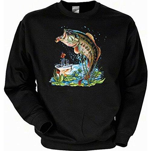 schen Angler Angeln Fishing Sweatshirt Gr XXL in schwarz (Biker Halloween Kostüme Für Hunde)