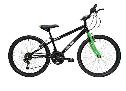 Discovery DP067 – Bicicleta de montaña mountainbike B.T.T. 24″. Cambio fricción, 18 Velocidades. Para niño