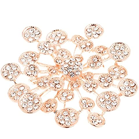 Ginasy Elegant Fashion Jewelry Crystal Bling Silver Plated Brooch Pin