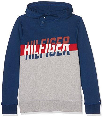 Tommy Hilfiger Jungen Sweatshirt Kb0kb02285 Mehrfarbig (Estate Blue 484), 10 Jahre (Herstellergröße: 10)