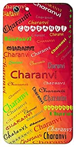 Charanvi (Beautiful) Name & Sign Printed All over customize & Personalized!! Protective back cover for your Smart Phone : Moto X-STYLE