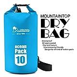 Mountaintop Trockentasche 10L/25L - Wasserdichte Taschen, ideal für Bootfahren / Kajakfahren / Angeln / Rafting / Schwimmen / Schwimmende / Camping - Schützt Telefon / Kamera / Kleidung / Dokumente von Wasser, Sand, Staub und Schmutz