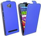 HUAWEI Y3 II (2) // Handytasche Flip Style Schale Cover Case Hülle in Blau Klapptasche Hülle @ Energmix