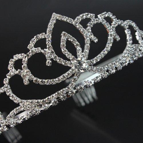 Nuevo Diadema Corona Tiara Cristal Diamante de Imitación para Fiesta Graduación