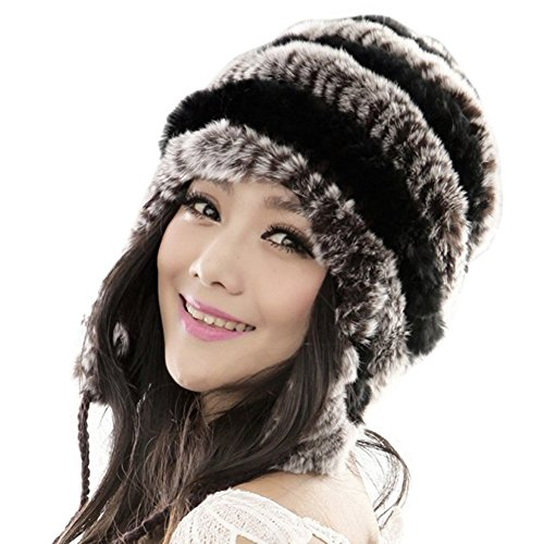 Itopfoxeu - Ensemble bonnet, écharpe et gants - Femme Coffee Black
