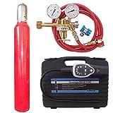 Lecksuch Set Formiergas - Gaslecksuchgerät Sniffer für Klimaanlagen + 10 L Formiergas Eigentumsflasche + Schlauch + Schnellkupplungen + Druckminderer - von Gase Dopp