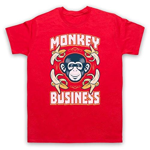Monkey Business Funny Herren T-Shirt Rot