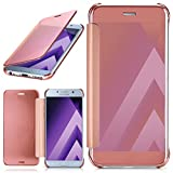 MoEx Samsung Galaxy A5 (2017) Hülle Transparent TPU [OneFlow Void Cover] Dünne Schutzhülle Rosé-Gold Handyhülle für Samsung Galaxy A5 2017 Case Ultra-Slim Handy-Tasche mit Sicht-Fenster