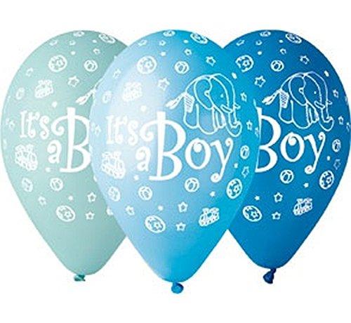 5 Luftballon Its a Boy Babyparty Pullerparty Geburt Ballons