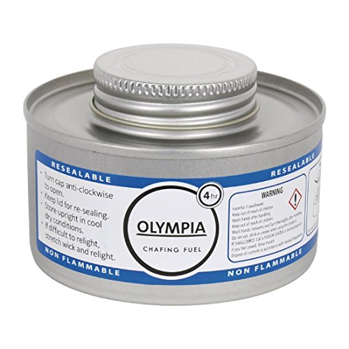 Olympia CB734scheuern Flüssiger Brennstoff, 4Stunde, silber (Paket mit 12Stück)