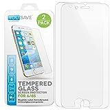 Yousave Accessories iPhone 6S / 6 2 - Pack Panzerglas Kristallklare Gehärtete Glas Schutzfolie (Ultradünn 0,3mm / 9H Härtegrad) 3D Touch Kompatibel - Doppelpack