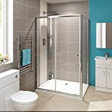1200 x 900 mm Modern Sliding Cubicle Door Walk In Bathroom Shower Enclosure