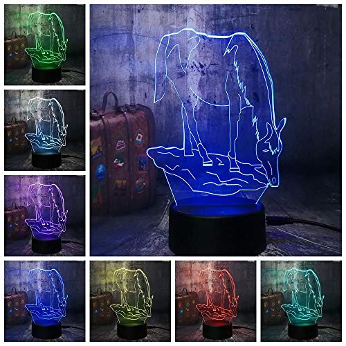 CFLEGEND3D luce notturna (tocco + telecomando) personaggio film animale decorazione della casa del fumetto lampada pendenza per bambini luci del partito del giocattolo LED7 colore USB
