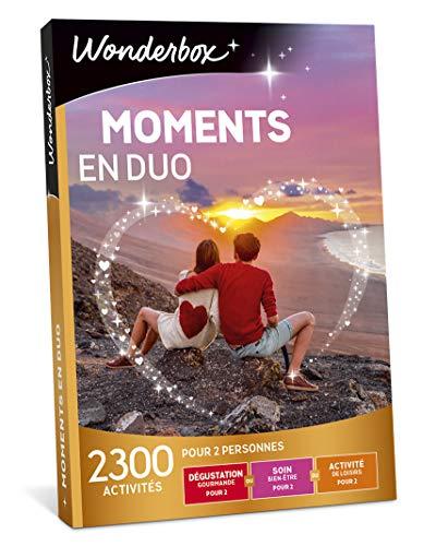 Wonderbox - Coffret cadeau couple - MOMENTS EN DUO - 1385 activités à partager en amoureux