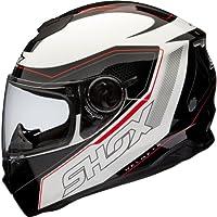 Shox Assault Tracer Integral Motorrad Helm XL Schwarz/Weiß/Rot