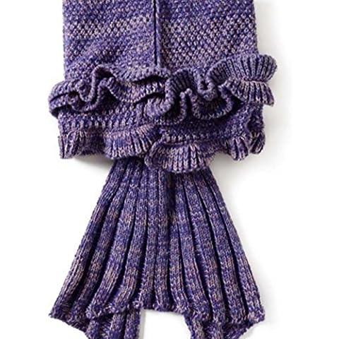 Coda da sirena coperta per bambini, Uncinetto Snuggle sirena sirena, tutte le stagioni sacco a (Biancheria Oak Bed)
