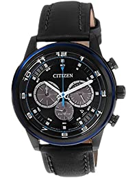 Citizen Herren-Armbanduhr XL Analog Quarz Leder CA4036-03E