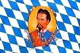 Deko-Fahne Flagge - König Ludwig - Gr. ca. 150x90 cm - 24054
