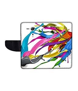 KolorEdge Printed Flip Cover For Sony Xperia SP Multicolor -(45KeMLogo12428XperiaSP)
