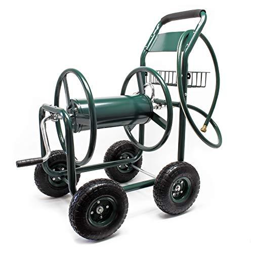 WilTec Gartenschlauchwagen Schlauchwagen Gartenbewässerung Schlauchaufroller Schlauchabroller