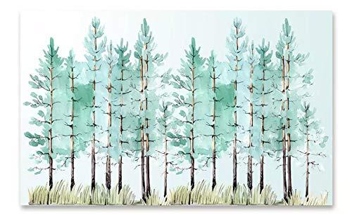 Tapeten WohnkulturMode kleine frische moderne minimalistische mint grüne Hölzer Nordic TV Hintergrund 3d Tapete 250x175cm -