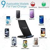 schnell-ladegerät kabellos, nanami wireless charger qi, 2aufnahmehülsen induktion schnelle für samsung galaxy s7/s6/s6edge plus und weitere kompatible geräte qi, schwarz - 51e2siqIK L - Schnell-Ladegerät Kabellos, Nanami Wireless Charger Qi, 2Aufnahmehülsen Induktion Schnelle für Samsung Galaxy S7/S6/S6Edge Plus und weitere kompatible Geräte Qi, Schwarz