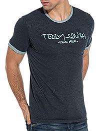 Teddy Smith Blue Logo Light Blue Heather t-Shirt - Color Blue, Size: XXXL
