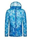 Hibasing Canottiere da pesca da uomo Camicia da outdoor Camouflage Protezione solare Protezione UV Maglietta a maniche lunghe T-shirt da escursionismo quick-dry