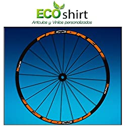 "Ecoshirt BQ-BEP7-6YPY Pegatinas Stickers Llanta Rim Progress Xcd EVO Am44 MTB Downhill, Naranja 29"""