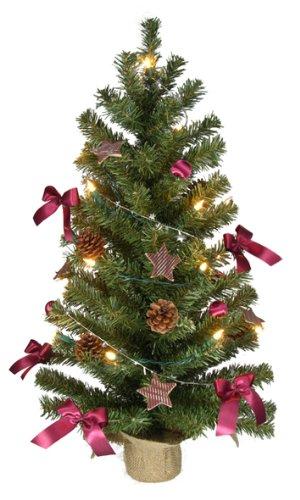 Weihnachtsbäume (Weihnachtsbaum 75cm - komplett geschmückt mit Lichterkette, Kugeln, Sternen etc.)