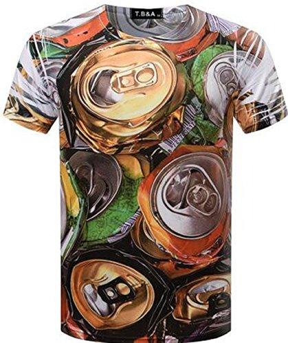 Men's 3D Fashion Computer Printed Short Sleeve O Neck Tee Shirt color 14