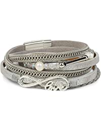 4c32ce48772f Amazon.es  brazaletes de plata ANTIGUA - Pulseras   Mujer  Joyería
